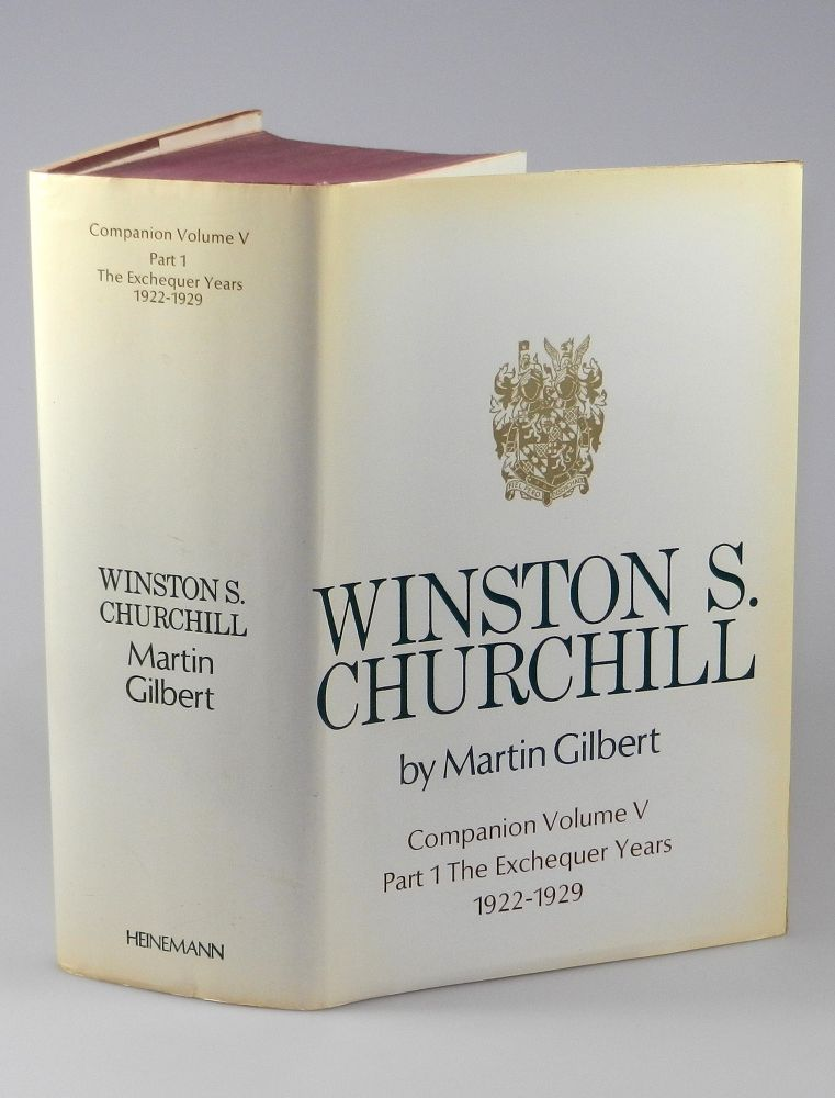 Winston S. Churchill, The Official Biography, Companion Volume V, Part 1, The Exchequer Years 1922 - 1929, with two typed and signed letters by the author ...