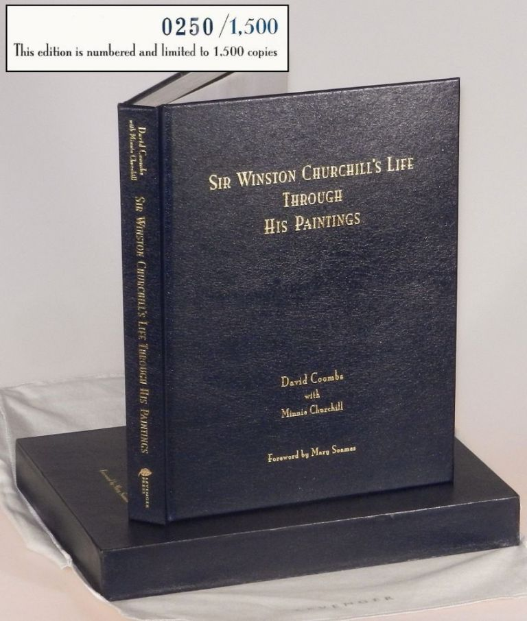 Sir Winston Churchill's Life Through His Paintings, finely bound limited edition in the publisher's original leather slipcase, cloth bag, and presentation box. David Coombs, Minnie S. Churchill.