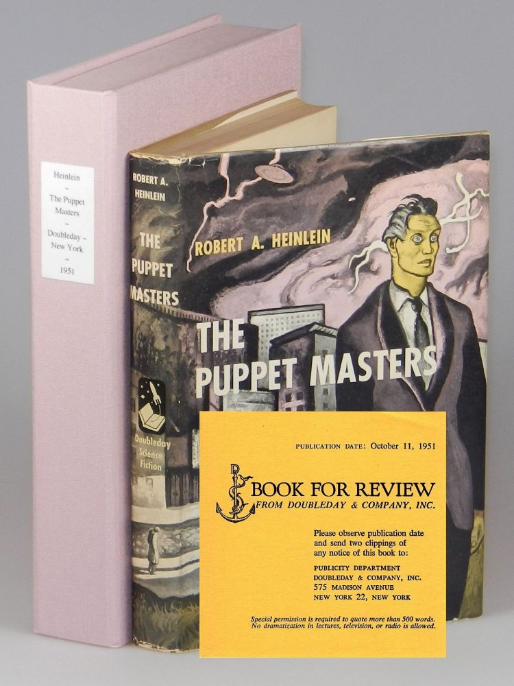 The Puppet Masters, the publisher's review copy of one of science fiction's most important editorial influences. Robert A. Heinlein.