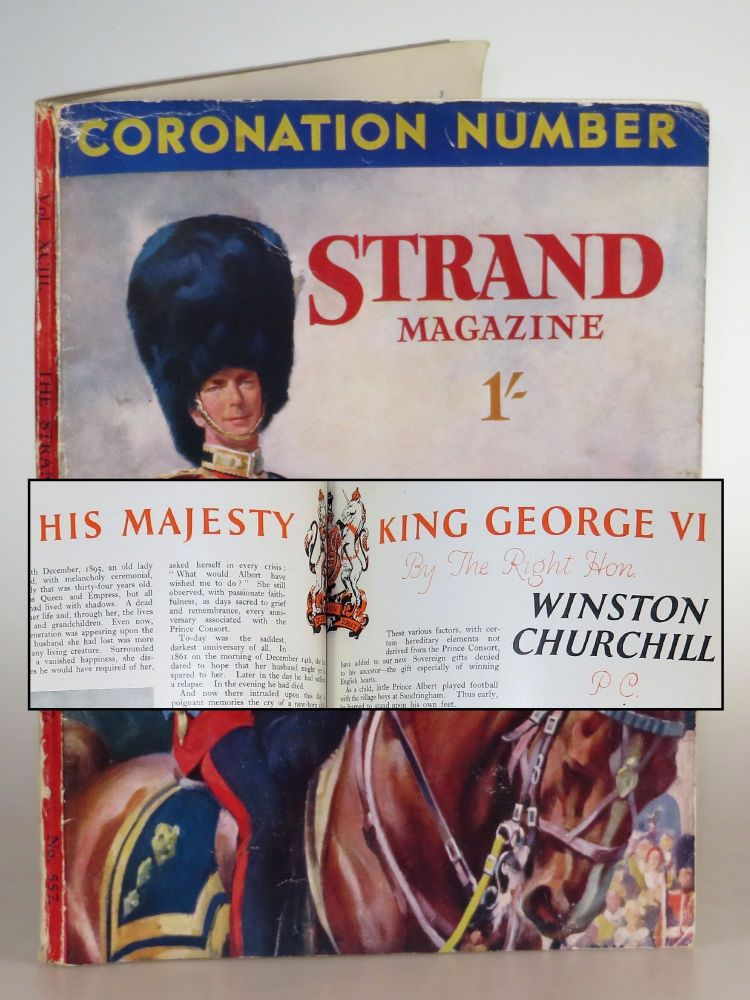 His Majesty King George VI in The Strand Magazine, May 1937. Winston S. Churchill.