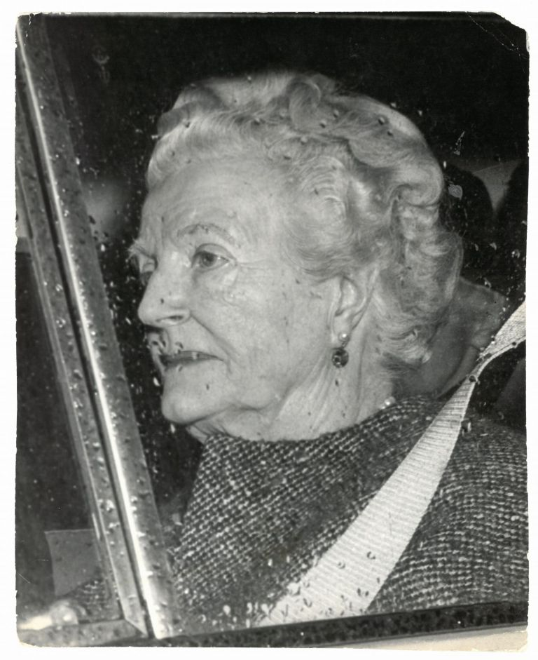 An original press photo of Lady Clementine Churchill, taken on 16 January 1965, the day after Sir Winston Churchill's fatal stroke