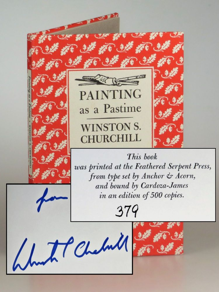 Painting as a Pastime, a 1985 limited edition copy #379, inscribed by Prime Minister Sir Winston S. Churchill's namesake grandson. Winston S. Churchill, his namesake grandson.