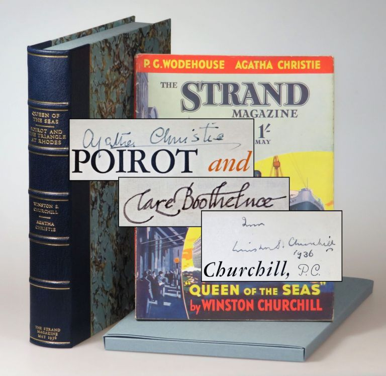 """Queen of the Seas"" by Winston S. Churchill and ""Poirot and the Triangle at Rhodes"" by Agatha Christie in The Strand Magazine, May 1936. Agatha Christie Winston S. Churchill."