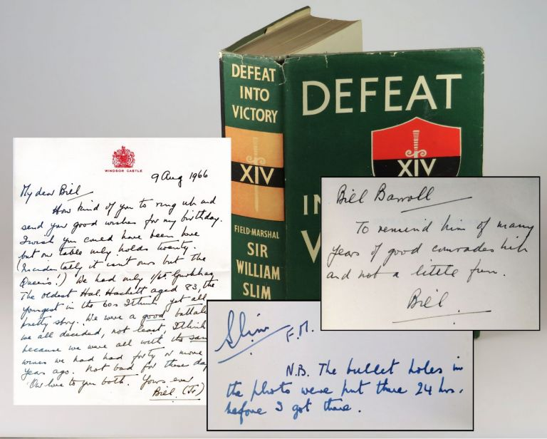 "Victory from Defeat, an author's presentation copy of ""the best English-language army commander's..."