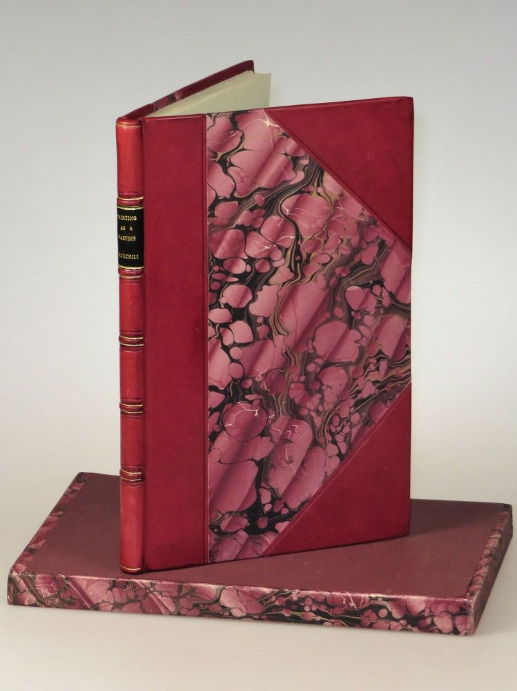 Painting as a Pastime, the first edition, finely bound. Winston S. Churchill.