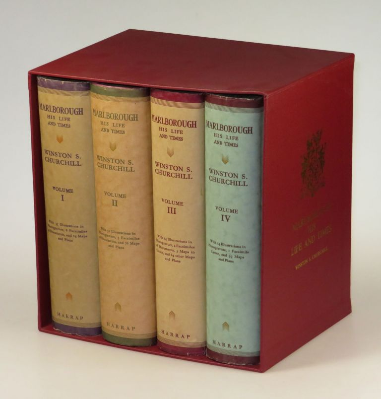 Marlborough: His Life and Times, full set of four British first edition, first printings in dust jackets. Winston S. Churchill.