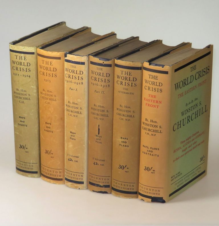 The World Crisis, full set of six British first edition, first printings, in dust jackets. Winston S. Churchill.