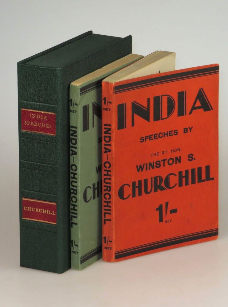 India, the wraps issues of both the first and second printings, both housed in a two-chambered morocco Solander case. Winston S. Churchill.
