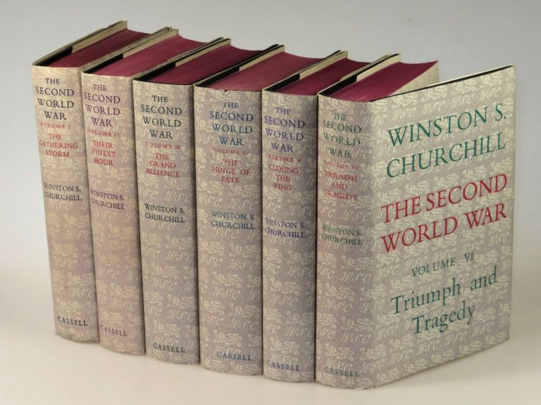 The Second World War, full set of six British first editions. Winston S. Churchill.