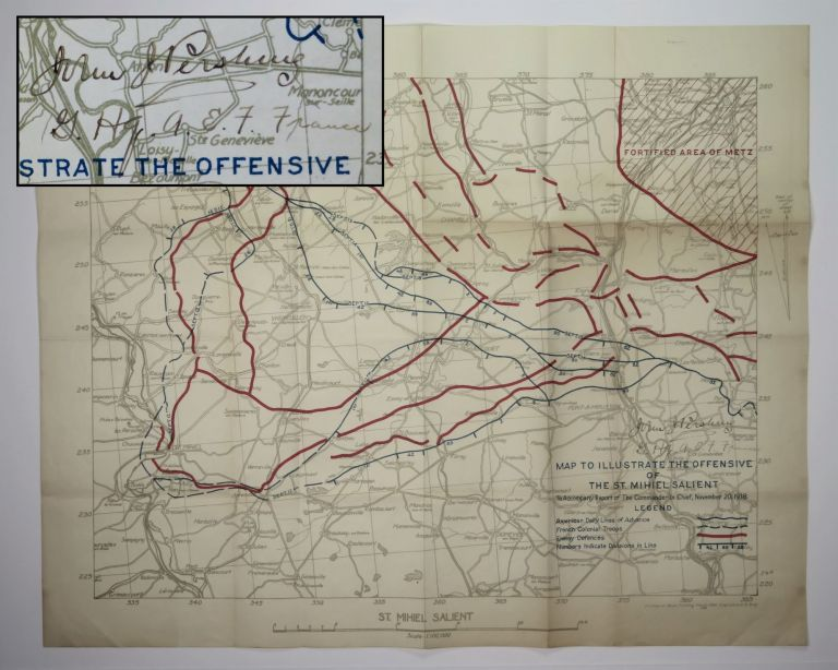 Map to Illustrate the Offensive of the St. Mihiel Salient to Accompany Report of the Commander In...