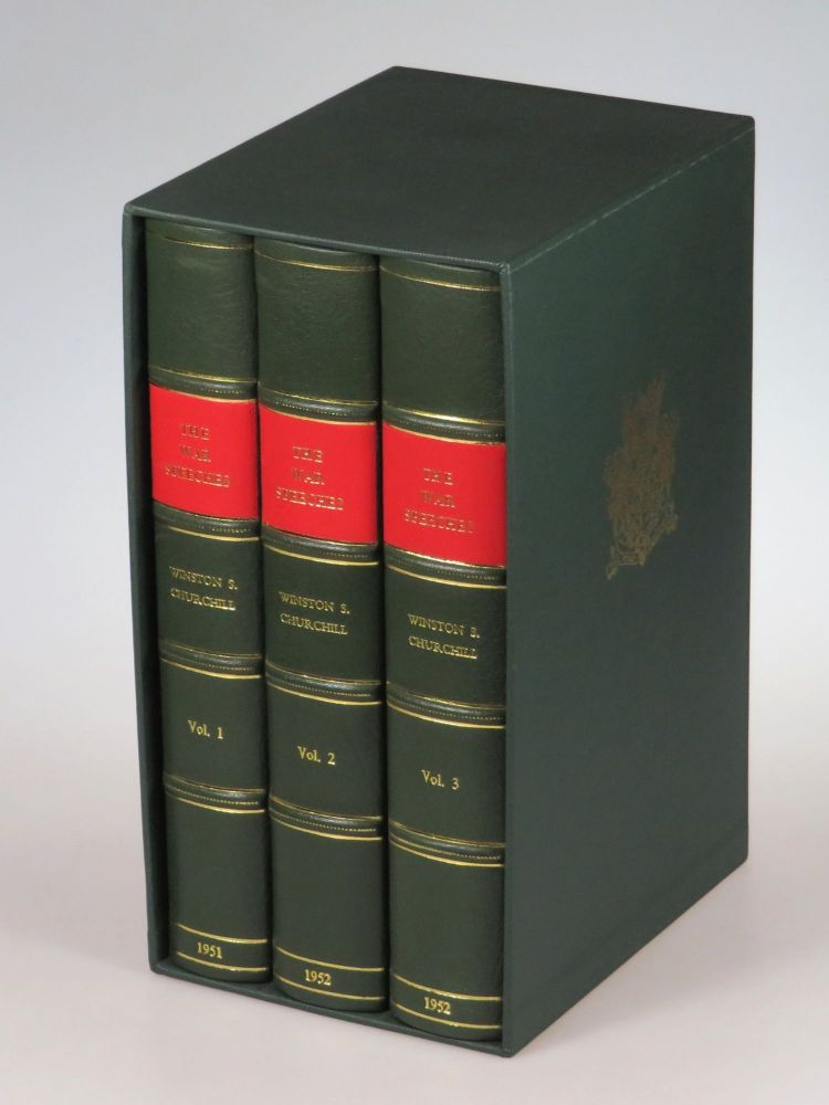 The War Speeches of the Rt. Hon. Winston S. Churchill, magnificently bound in full green morocco. Winston S. Churchill.