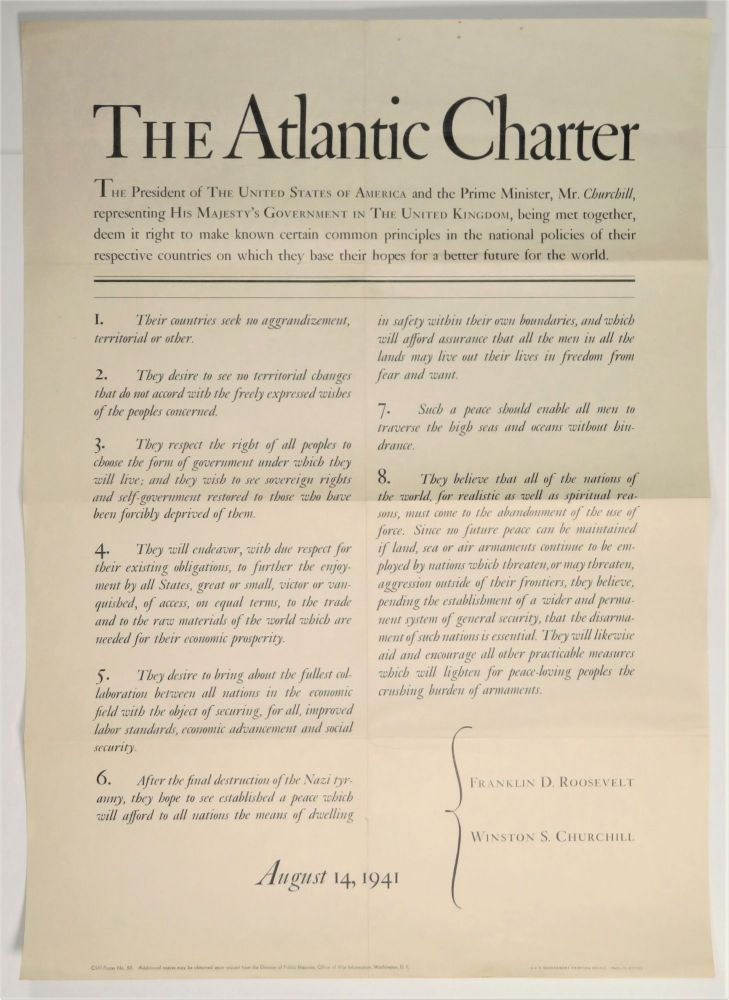 The Atlantic Charter Broadside
