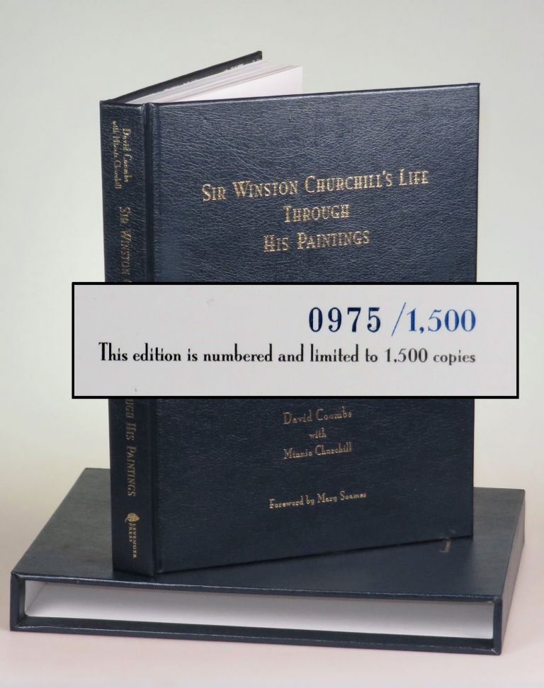 Sir Winston Churchill's Life Through His Paintings, leather bound limited edition in the...