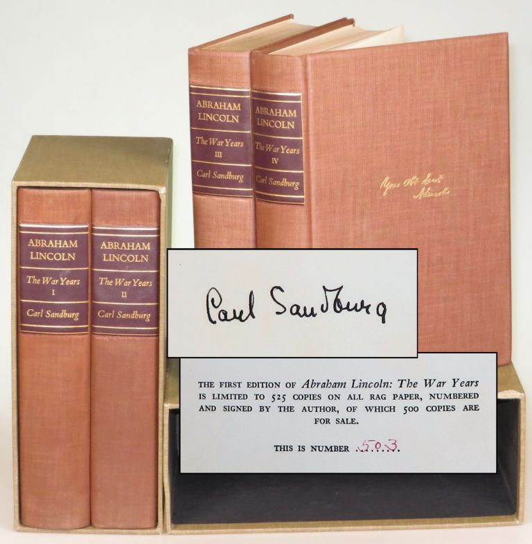 Abraham Lincoln, The War Years, complete in four volumes. Carl Sandburg.