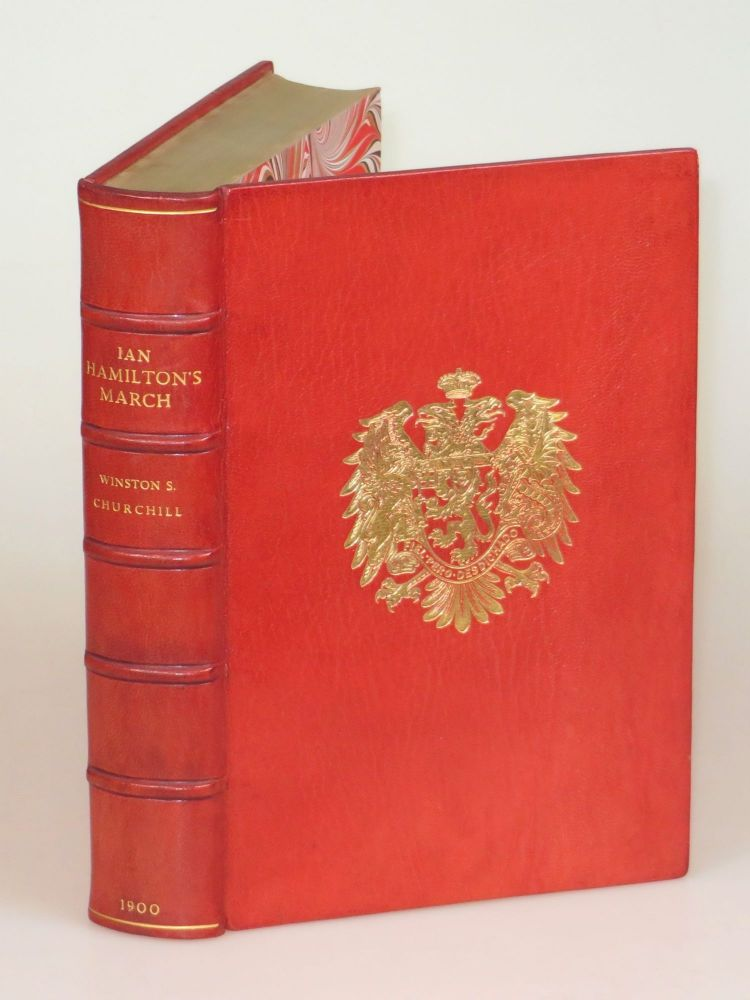 Ian Hamilton's March, finely bound in full Niger Morocco for Henry Sotheran, Ltd. Winston S. Churchill.