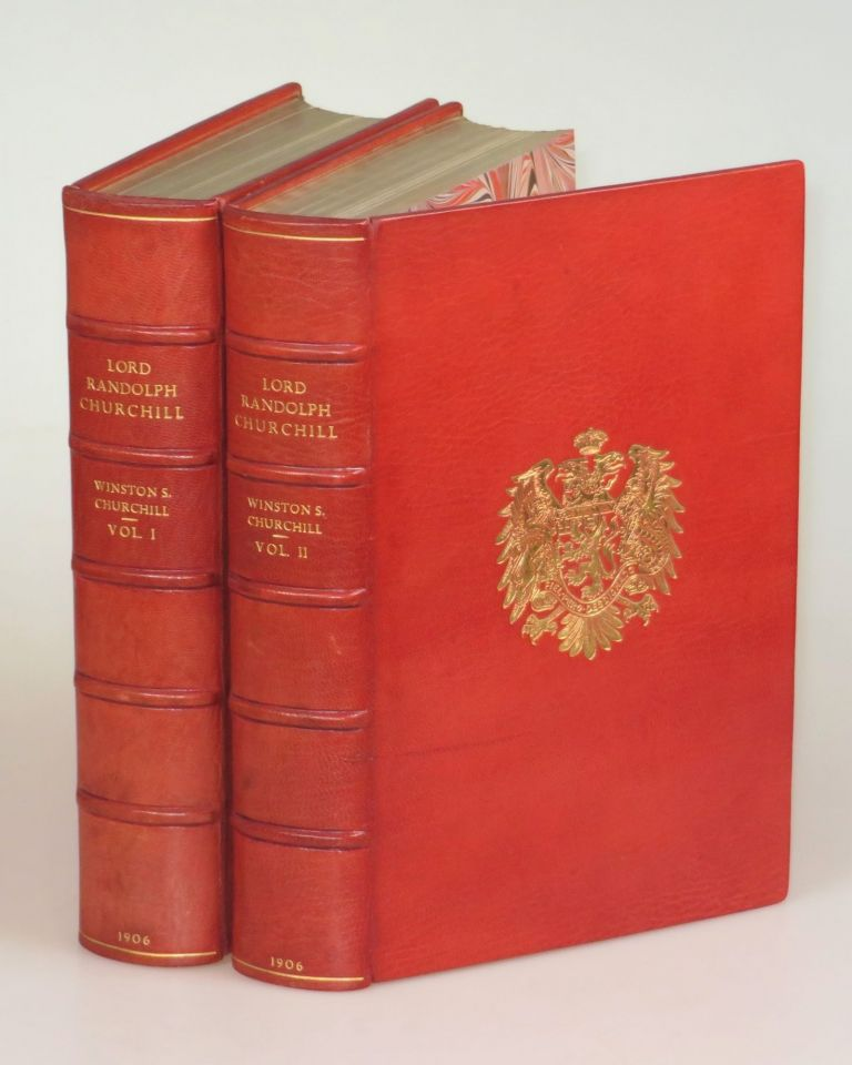 Lord Randolph Churchill, finely bound in full Niger Morocco for Henry Sotheran Ltd. Winston S. Churchill.