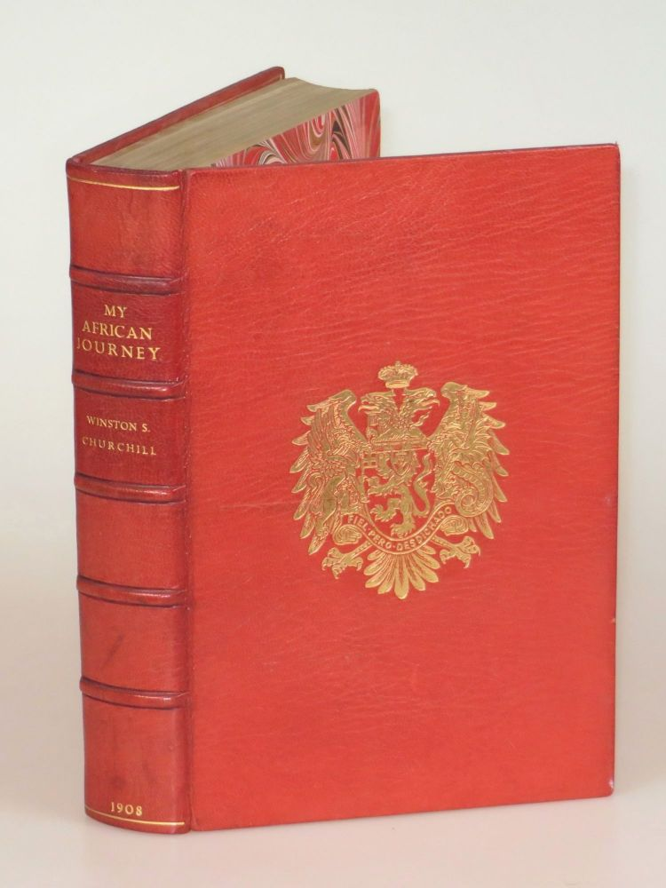 My African Journey, finely bound in full Niger Morocco for Henry Sotheran, Ltd. Winston S. Churchill.