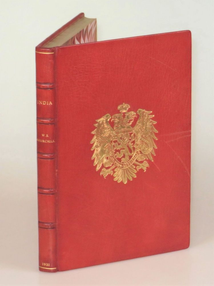 India, finely bound in full Niger Morocco for Henry Sotheran, Ltd. Winston S. Churchill.