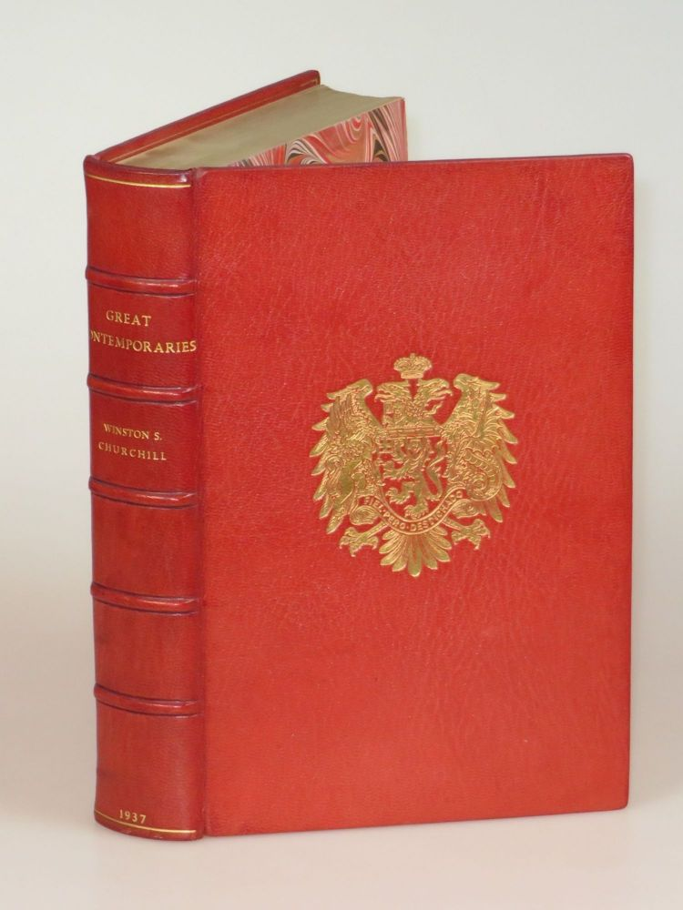 Great Contemporaries, finely bound in full Niger Morocco for Henry Sotheran, Ltd. Winston S. Churchill.