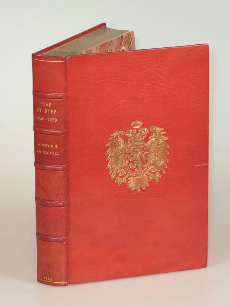 Step By Step, finely bound in full Niger Morocco for Henry Sotheran, Ltd. Winston S. Churchill.