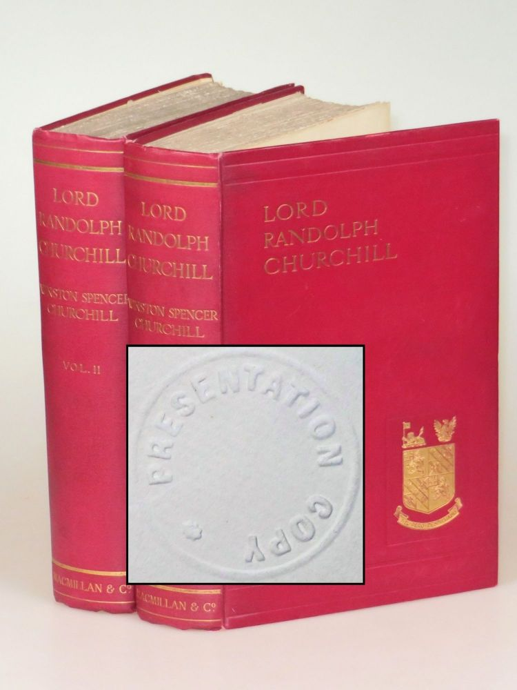 Lord Randolph Churchill, a publisher's presentation set. Winston S. Churchill.