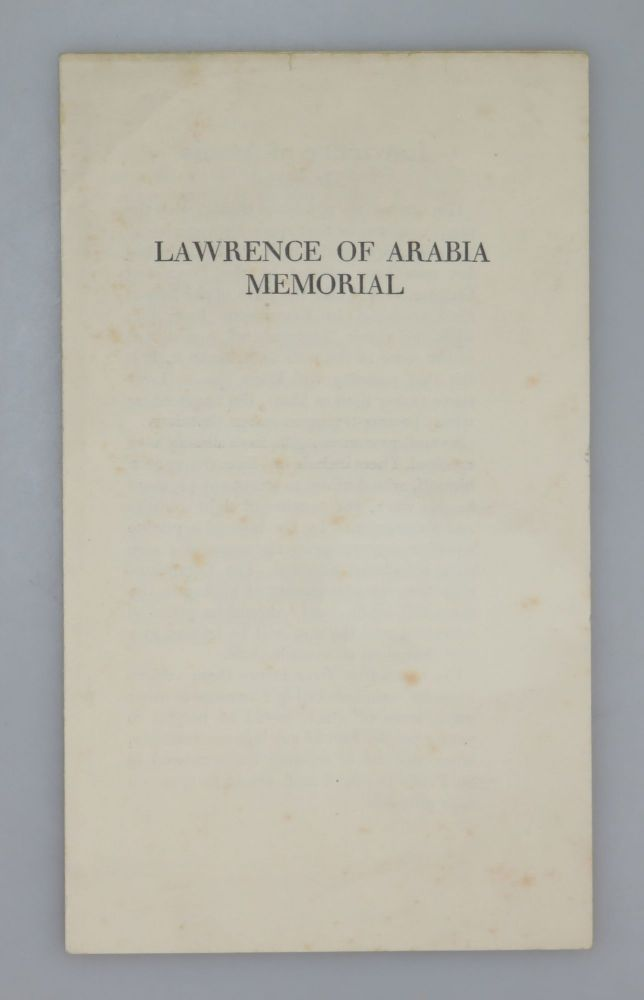Lawrence of Arabia Memorial. Lawrence of Arabia Memorial Committee.