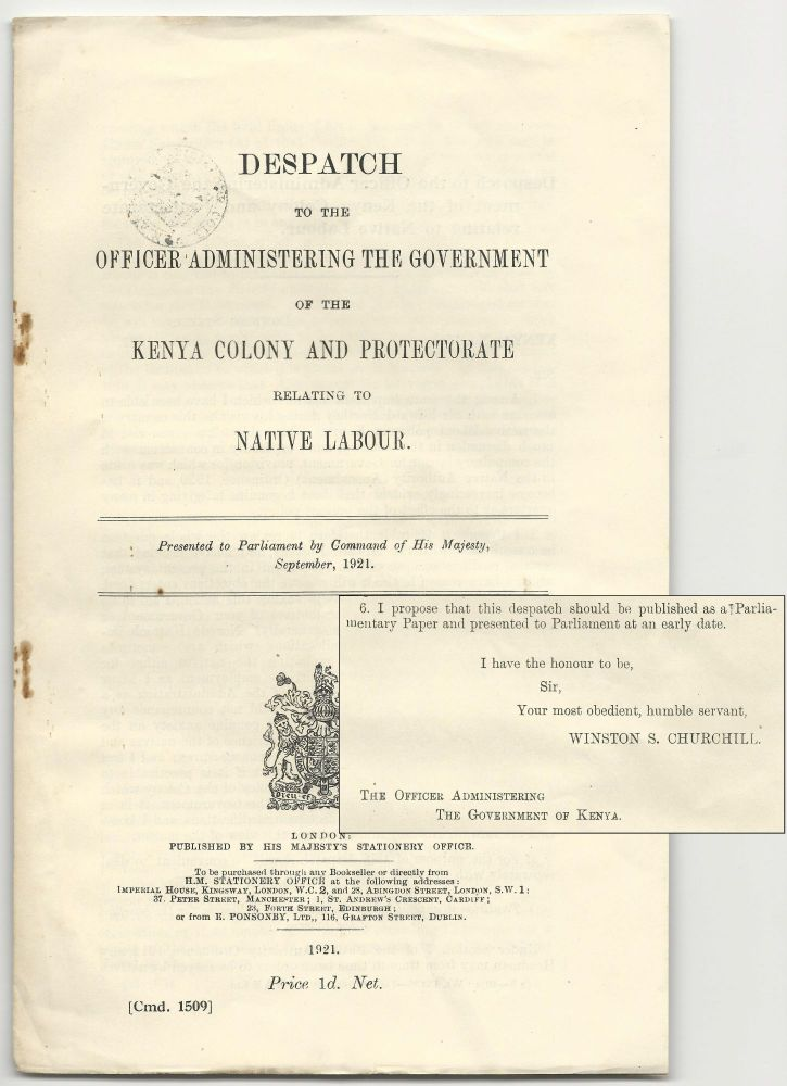 Despatch to the Officer Administering the Government of the Kenya Colony and Protectorate...