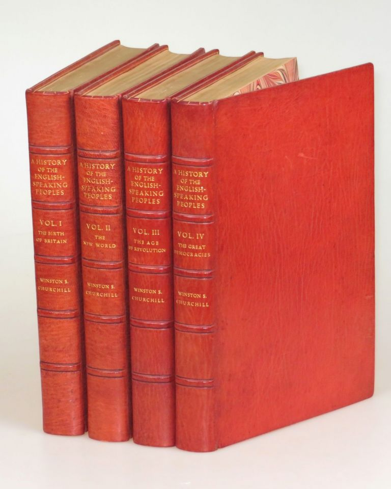 A History of the English-Speaking Peoples, finely bound in full Niger Morocco for Hatchards. Winston S. Churchill.