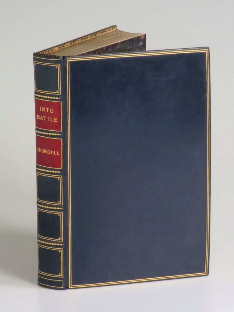 Into Battle, finely bound in full calf by Bayntun-Riviere. Winston S. Churchill.