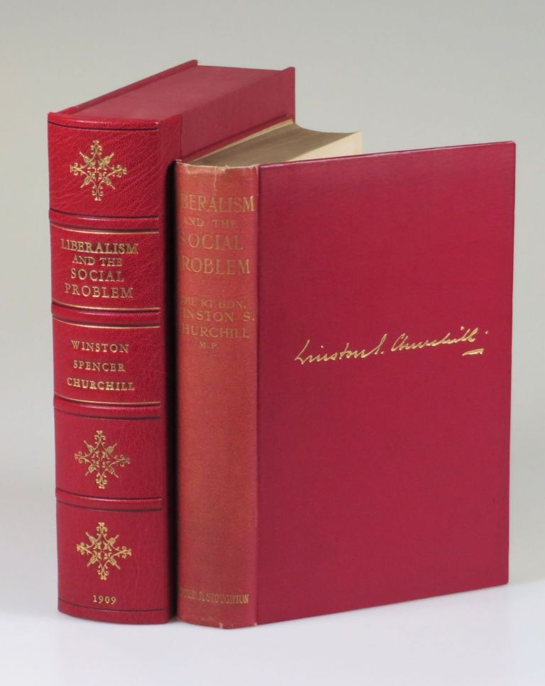 Liberalism and the Social Problem, housed in a quarter Morocco goatskin Solander case. Winston S. Churchill.