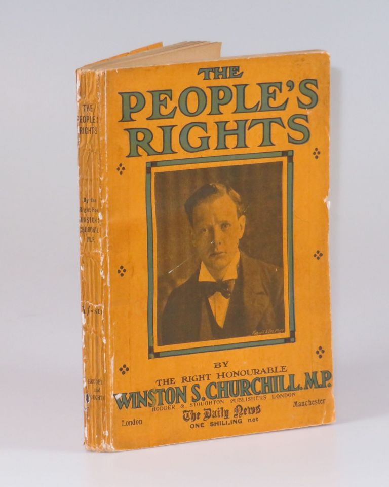 The People's Rights, the exceptionally rare Daily News binding variant of the first issue, first state. Winston S. Churchill.
