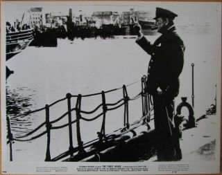 "Promotional photo for 1964 documentary ""The Finest Hours"" - Winston Churchill on a dock making..."