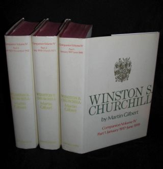 Winston S. Churchill, The Official Biography, Companion Volume IV, Parts 1, 2 & 3, January 1917 - November 1922. Martin Gilbert.