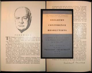 A Foreword by Winston Churchill in The Conservative Party's 1947 Brighton Conference Resolutions....