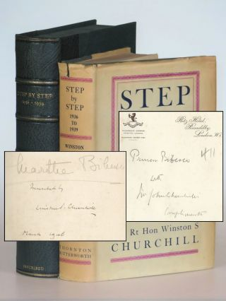 Step By Step, Princess Marthe Bibesco's copy inscribed and dated by Churchill and presented by Churchill's brother. Winston S. Churchill.