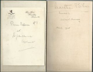 Step By Step, Princess Marthe Bibesco's copy inscribed and dated by Churchill and presented by Churchill's brother
