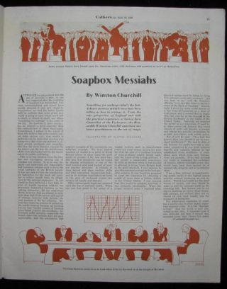 """Soapbox Messiahs"" by Winston Churchill in Colliers, 20 June 1936"