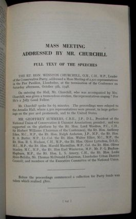 Winston Churchill's 9 October 1948 Speech to the 69th Annual Conservative Party Conference published in the Report of the Proceedings