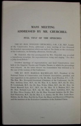 Winston Churchill's 4 October 1947 Speech to the 68th Annual Conservative Party Conference published in the Report of the Proceedings