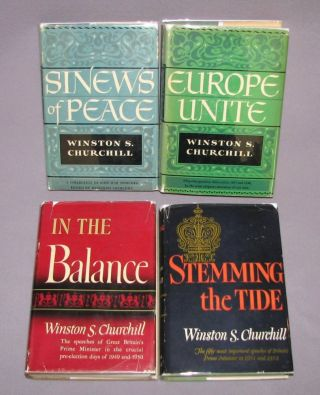The Post-War Speeches - a full set of jacketed U.S. first editions: The Sinews of Peace, Europe...