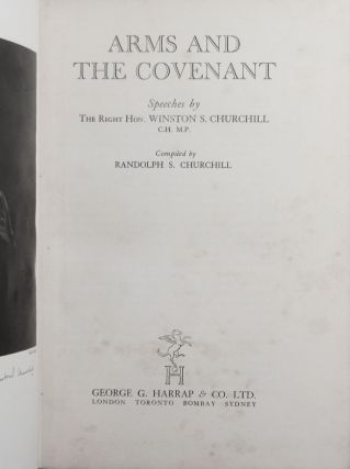 Arms and the Covenant in the striking wartime dust jacket