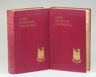 """""""Linky from Winston S.C 1 Jan 1906"""" - Lord Randolph Churchill, Winston S. Churchill's biography of his father inscribed and dated by Winston to his lifelong friend, confidante, and best man at his wedding, Hugh Cecil, the day before publication"""
