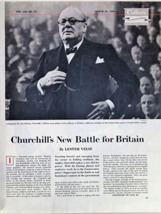 Churchill's New Battle for Britain, in Collier's magazine March 26, 1949