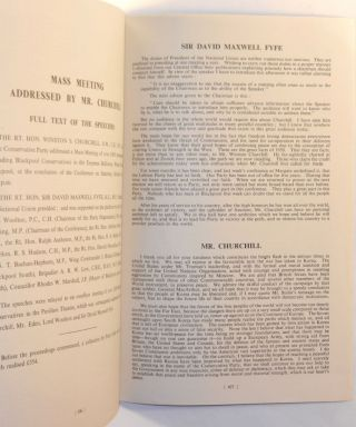 Winston Churchill's 14 October 1950 Speech to the 71st Annual Conservative Party Conference published in the Report of the Proceedings