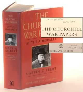 Winston S. Churchill, The Official Biography, The War Papers, Volume 1, At the Admiralty, September 1939 - May 1940, Inscribed and dated by the author. Martin Gilbert.