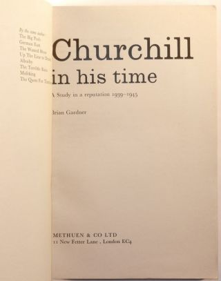 Churchill in His Time: A Study in a Reputation, 1939-1945, publisher's Uncorrected Proof Copy