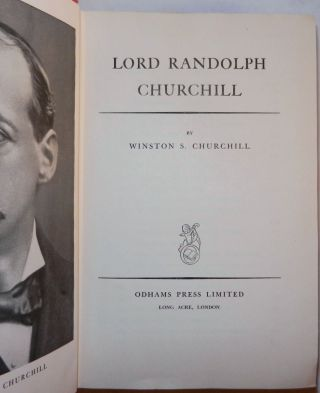 Lord Randolph Churchill, signed and dated by Churchill