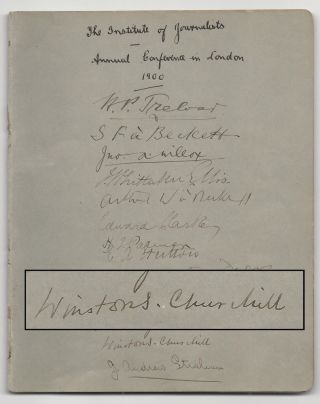 Autograph booklet from the September 1900 Institute of Journalists annual conference in London,...