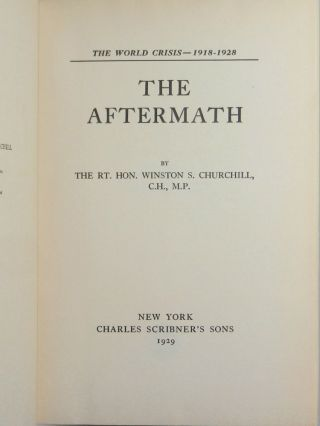 The World Crisis: The Aftermath, 1918-1928