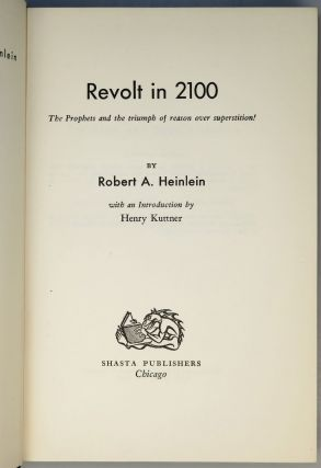 "Revolt in 2100, a superb ""subscriber's copy"" of the first edition signed by Heinlein"